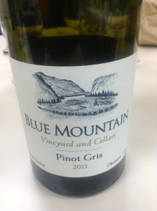 2011 Blue Mountain Pinot Gris
