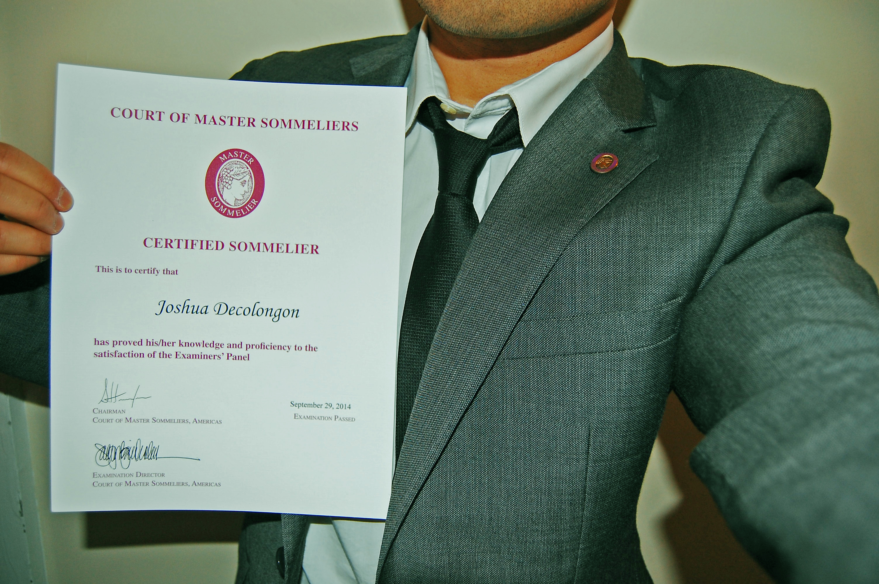 Court Of Master Sommeliers The Certified Sommelier Exam