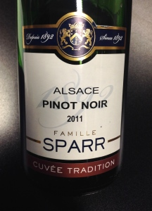 Charles Sparr 2011 Cuvée Tradition Pinot Noir