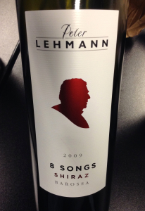 "Peter Lehmann 2009 ""8 Songs"" Shiraz"